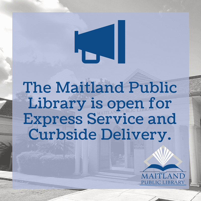 Library Open for Express Service & Curbside Delivery