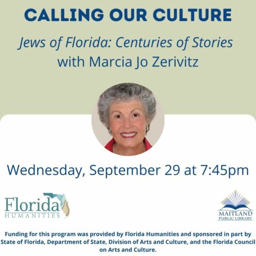 Calling Our Culture: Jews of Florida: Centuries of Stories